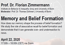 Webinar on Memory and Belief Formation